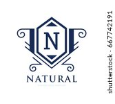 monogram logo template with...   Shutterstock .eps vector #667742191