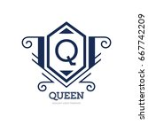 monogram logo template with...   Shutterstock .eps vector #667742209
