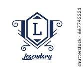 monogram logo template with...   Shutterstock .eps vector #667742221