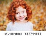 closeup portrait of cute... | Shutterstock . vector #667744555