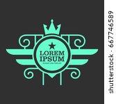 monogram logo template with...   Shutterstock .eps vector #667746589