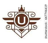monogram logo template with...   Shutterstock .eps vector #667746619