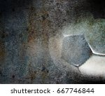 soccer ball background with... | Shutterstock . vector #667746844