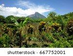 an amazing view of volcan... | Shutterstock . vector #667752001