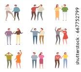fight people character vector... | Shutterstock .eps vector #667752799