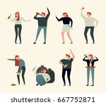 alcohol drink bad people vector ... | Shutterstock .eps vector #667752871