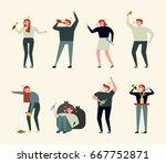 alcohol drink bad people vector ... | Shutterstock .eps vector #667752871