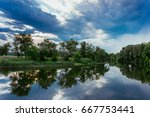 calm beautiful scenic landscape ... | Shutterstock . vector #667753441