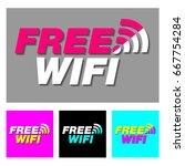 free wifi icon symbol rgb...   Shutterstock .eps vector #667754284