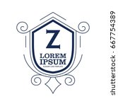 monogram logo template with...   Shutterstock .eps vector #667754389