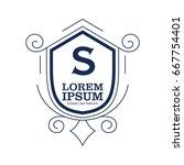 monogram logo template with...   Shutterstock .eps vector #667754401