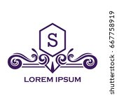monogram logo template with...   Shutterstock .eps vector #667758919