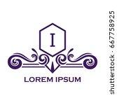 monogram logo template with...   Shutterstock .eps vector #667758925