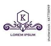 monogram logo template with...   Shutterstock .eps vector #667758949
