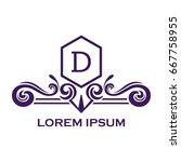 monogram logo template with...   Shutterstock .eps vector #667758955