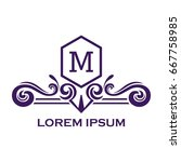 monogram logo template with...   Shutterstock .eps vector #667758985
