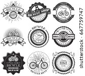 vector set of bicycle repair... | Shutterstock .eps vector #667759747