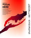 red shake hand leaflet | Shutterstock .eps vector #667760287