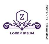 monogram logo template with...   Shutterstock .eps vector #667763059