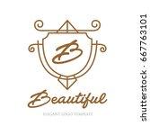 monogram logo template with...   Shutterstock .eps vector #667763101