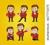 businessman set | Shutterstock .eps vector #667771075