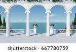 3d render from imagine ancient... | Shutterstock . vector #667780759