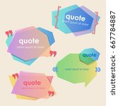set of creative quote bubble...