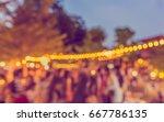 vintage tone blur image of... | Shutterstock . vector #667786135
