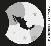 mexico detailed map. | Shutterstock .eps vector #667793629