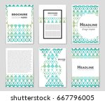 abstract vector layout... | Shutterstock .eps vector #667796005