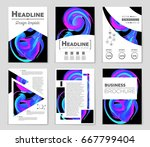 abstract vector layout... | Shutterstock .eps vector #667799404