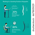 work sitting and standing.... | Shutterstock .eps vector #667805029