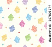 Cupcakes Colorful Pastel...