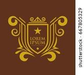 monogram logo template with...   Shutterstock .eps vector #667805329