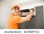 air conditioning technician | Shutterstock . vector #667809721