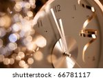 new year clock before midnight | Shutterstock . vector #66781117