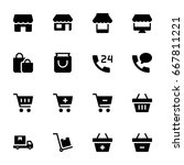 shopping icon set | Shutterstock .eps vector #667811221