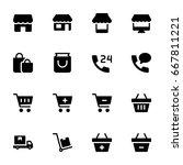 shopping icon set | Shutterstock .eps vector #667811221