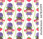 seamless colorful pattern with... | Shutterstock .eps vector #667814599
