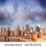 aerial view of downtown... | Shutterstock . vector #667815241