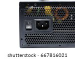 close up power supply unit... | Shutterstock . vector #667816021