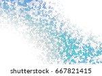 light blue vector low poly... | Shutterstock .eps vector #667821415