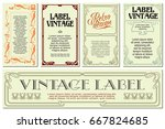 vector flowers vintage labels... | Shutterstock .eps vector #667824685