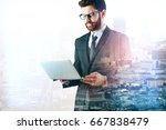 side view of young businessman... | Shutterstock . vector #667838479