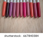 lips pencil colorful . | Shutterstock . vector #667840384