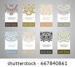 vector vintage set of business...   Shutterstock .eps vector #667840861