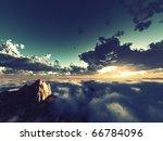 Beautiful View Above Cloudscape ...