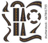 road elements street transport... | Shutterstock .eps vector #667841755