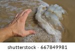 hand of a person trying to... | Shutterstock . vector #667849981