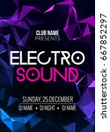 electro sound party music... | Shutterstock .eps vector #667852297